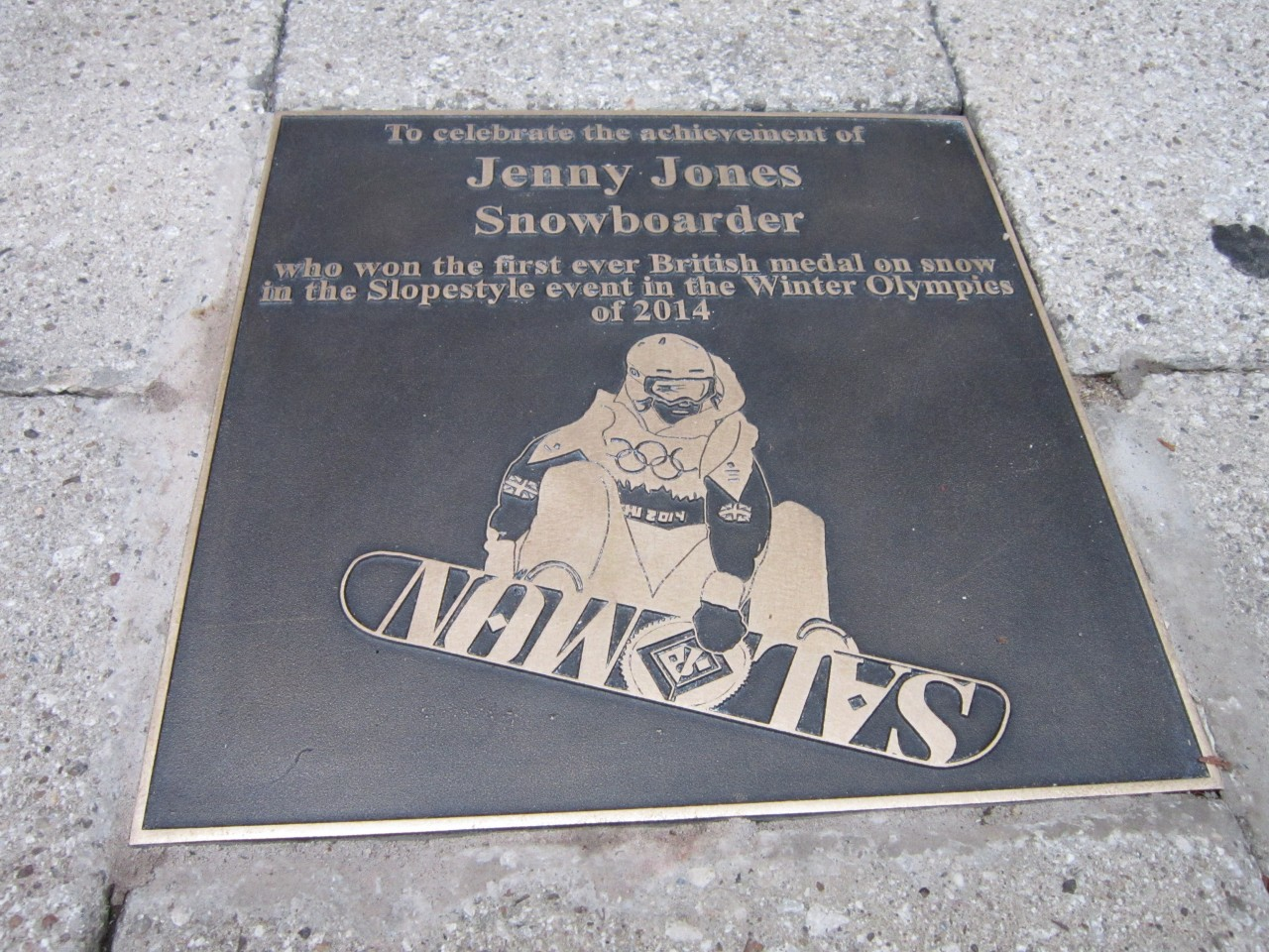 Unveiling of plaque by Jenny Jones, Olympic Snowboarder