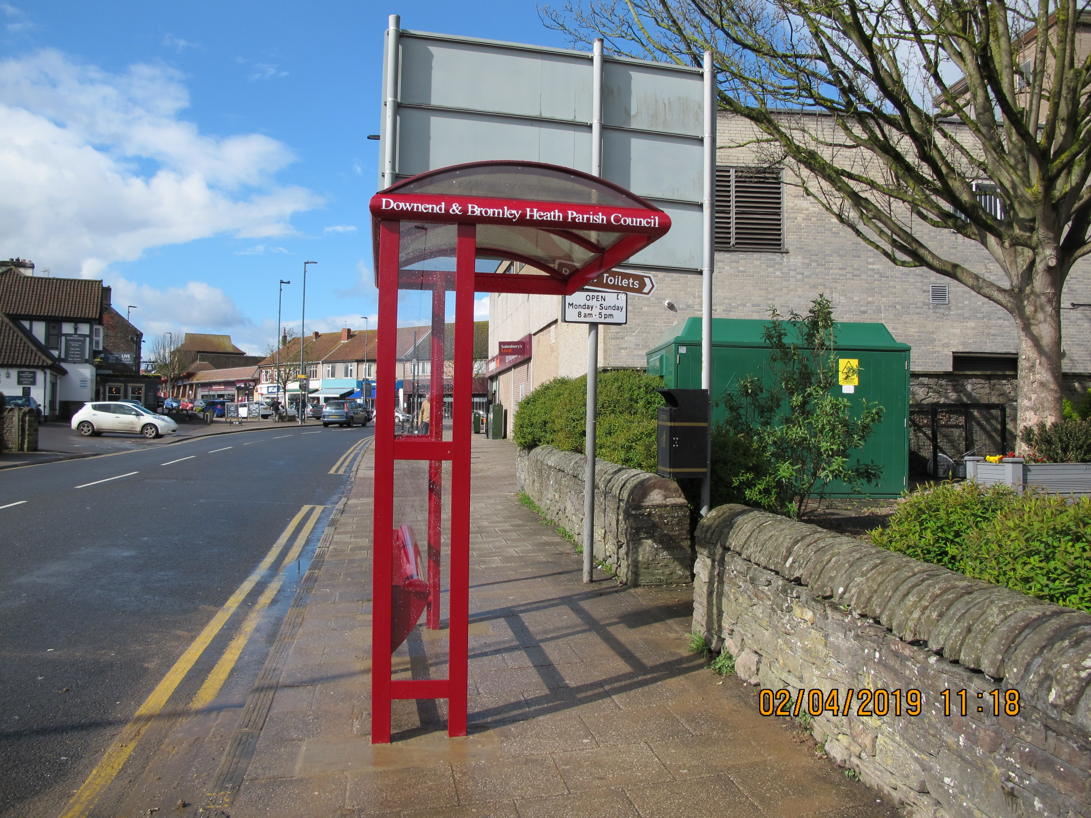 Picture of one of the Parish bus stop shelters