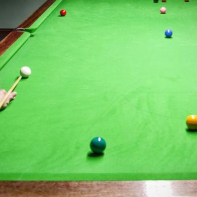 Man playing Snooker